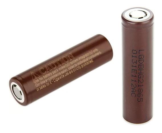 Bateria Lg Hg2 (2un + Case) 18650 3000mah 20 A Vape Original