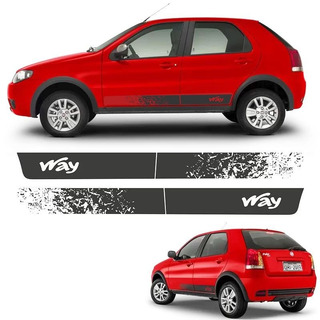 Faixa Lateral Fiat Palio Way 2014/ Adesivo Grafite Decorado