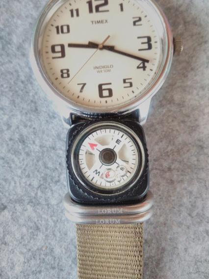 Bonito Y Original Reloj Timex! Indiglo, Correa Nato Original