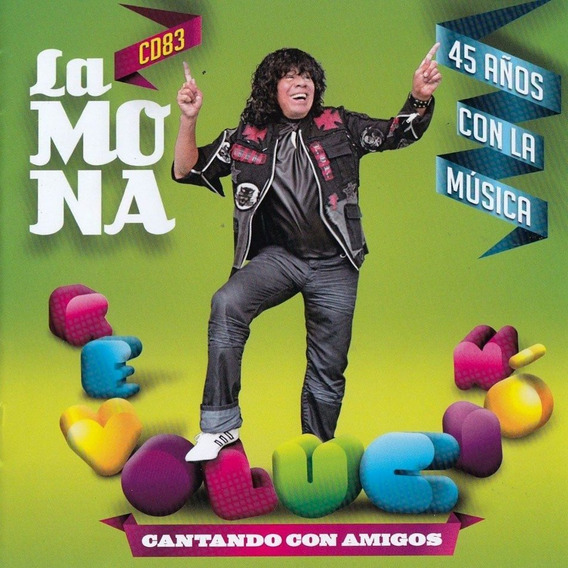 Cd La Mona Jimenez 45 Años Con La Musica