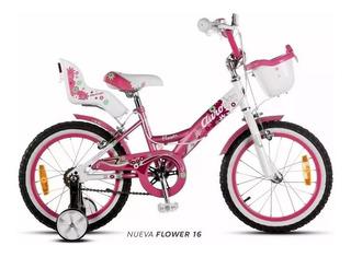 Bicicleta Aurorita Flowers 16 Aurora Niña