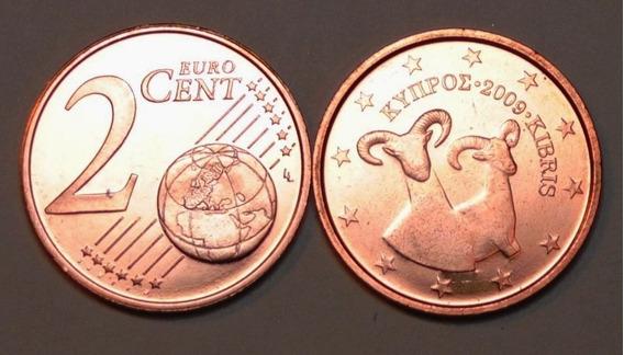 Chipre Moneda De 2 Cents Euro Año 2009 Sin Circular Fauna