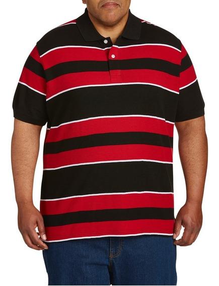 Camisetas Polo A Rayas, Varios Tonos 5xlt, 4xlt Tallas Extra