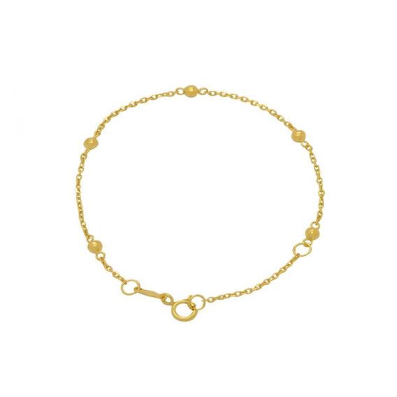 Pulseira Infantil Em Ouro 18k - Ov / 6890