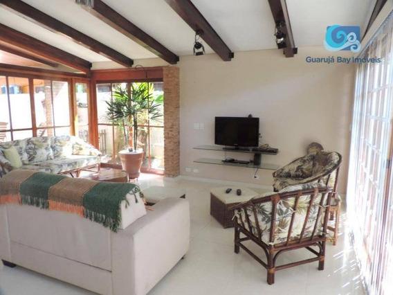 Jardim Albamar Casa A Venda No Condomínio Jardim Albamar - Praia De Pernambuco - Guarujá - Ca1090