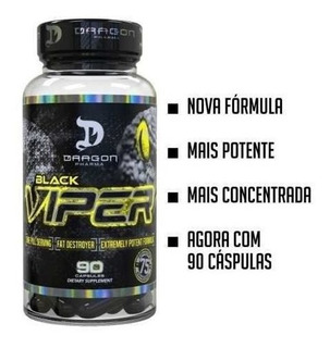 Black Viper 90 Cap - Dragon Pharma 100% Original