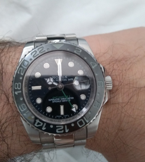 Rolex Explorer Fundo Preto Vidro Safira Aço Inox Automatico