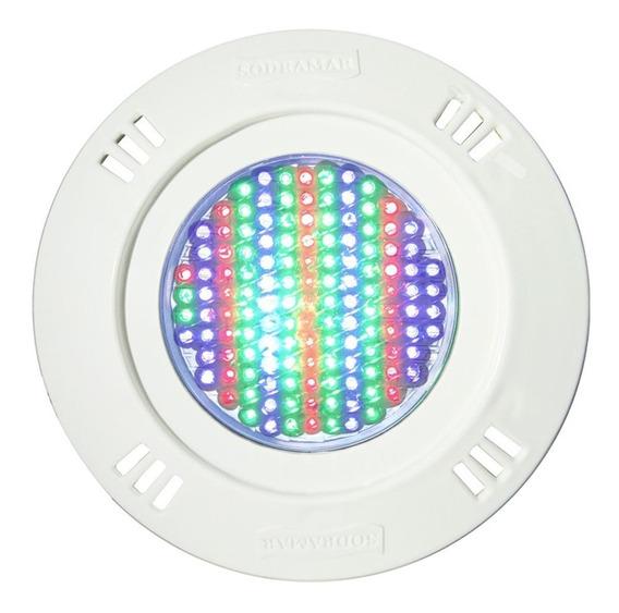 Luminária De Piscina Promoção Sodramar Leds Rgb Iluminação