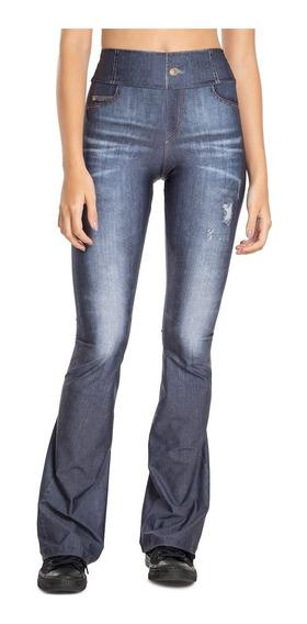Calça Flare Jeans Power - Jeans Escuro - Live!