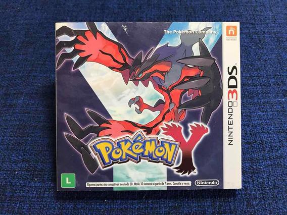 Jogo 3ds 2ds Pokemon Y Completo Com Luva Bem Conservado