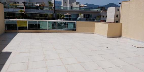 Cobertura Para Venda Em Rio De Janeiro, Recreio Dos Bandeirantes, 1 Dormitório, 1 Suíte, 3 Banheiros, 3 Vagas - 5059