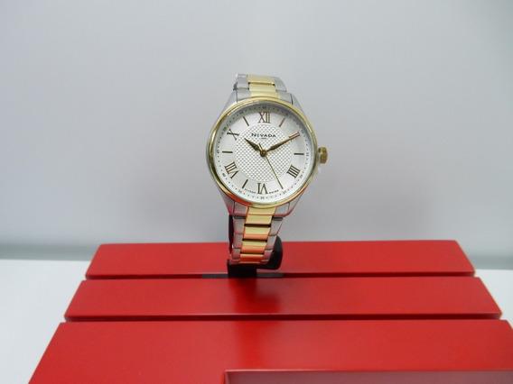 Reloj Nivada Plata Con Dorado -original-