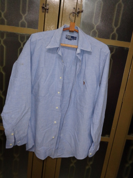 Camisa Jeans Manga Longa ( Polo )