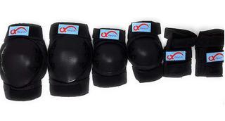 Set De Protección Adulto Premium Rodilla Codo Mano Ajustable
