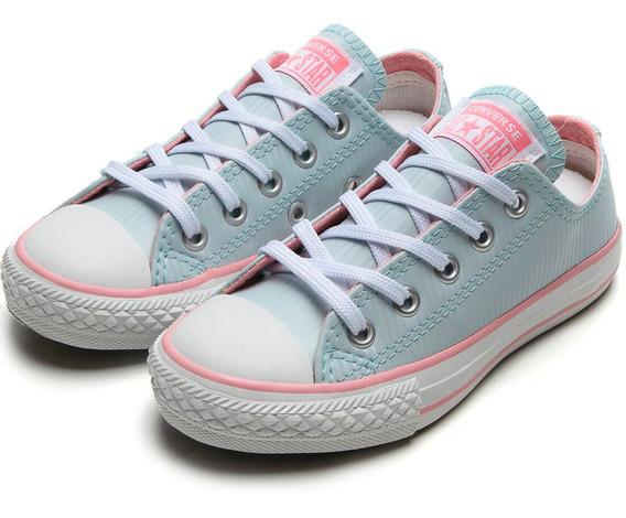 Tênis Converse Menina Chuck Taylor Infantil - Azul E Rosa