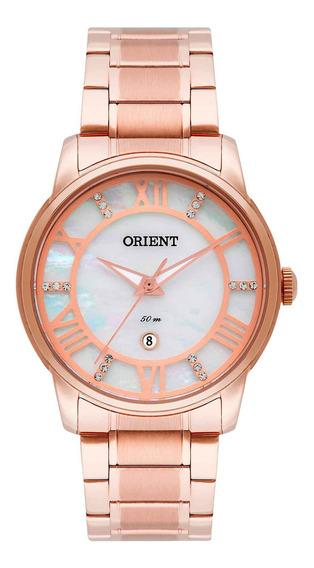 Relógio Orient Feminino Frss1029 B3rx Dourado Rosê