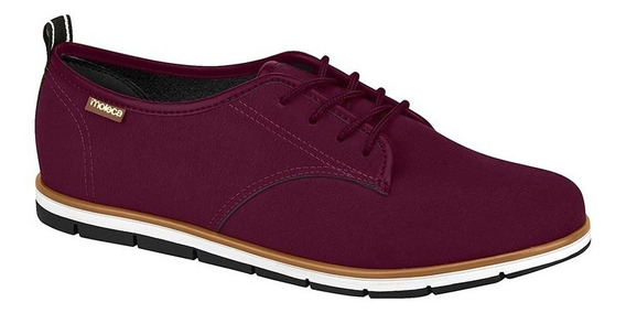 Sapato Feminino Oxford Camurça Moleca