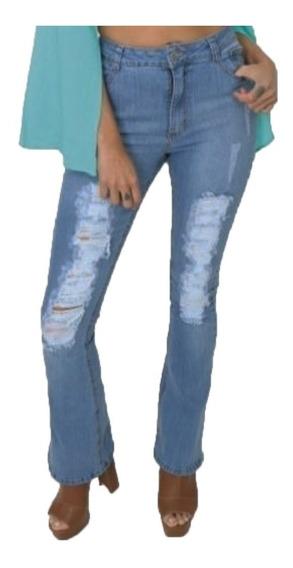 Calça Flare Jeans Feminina Lady Rock