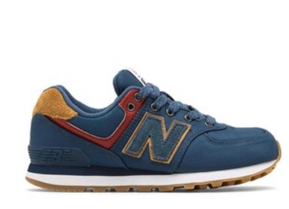 New Balance - Tênis 574 - Juvenil Azul - Tamanho 30