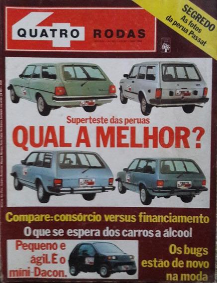Quatro Rodas N° 262 Super Teste Das Peruas
