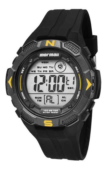Relógio Mormaii Mo29088y Preto - Cor: Preto/amarelo - Tamanh