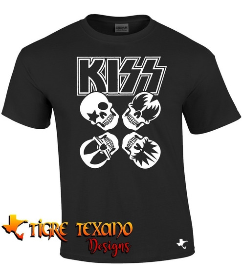 Playera Bandas Kiss Modelo 04 By Tigre Texano Designs