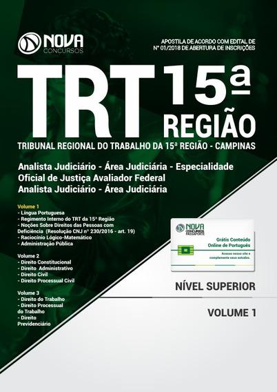Trt 15ª Campinas Analista Judiciário Área Judiciária