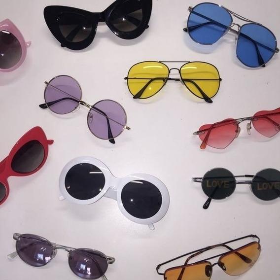 Promoção Óculos De Sol Feminino Blogueira Gatinho Redondo