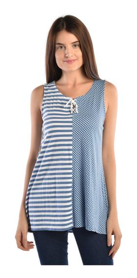 Blusa Chaps Azul 206705592-2wmg Mujer