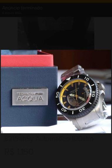 Relógio Technos Acqua Titanium 8215ah5y Automático 8000 M.