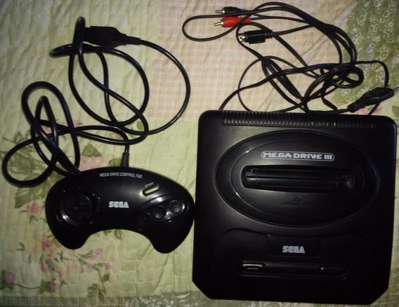 Videogame Mega Drive 3 + 01 Controle Original De 3 Botões + 01 Cabo Rf Paralelo