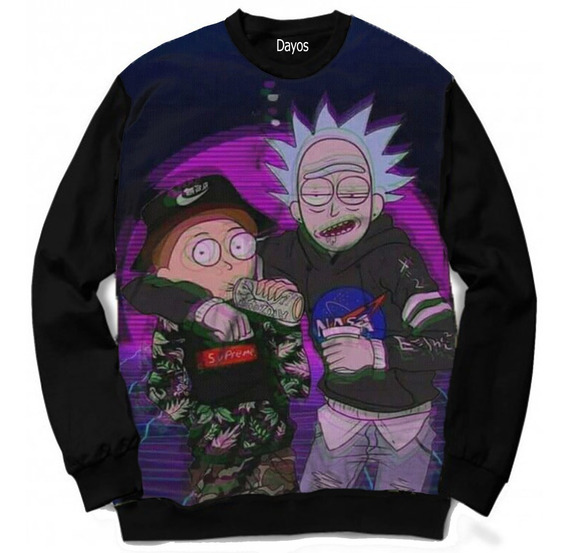 Casaco Moletom Rick And Morty Rap Music Swag Tumblr Moda