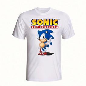Camisa Infantil Sonic The Hedgehog Jogo Estampada Camiseta