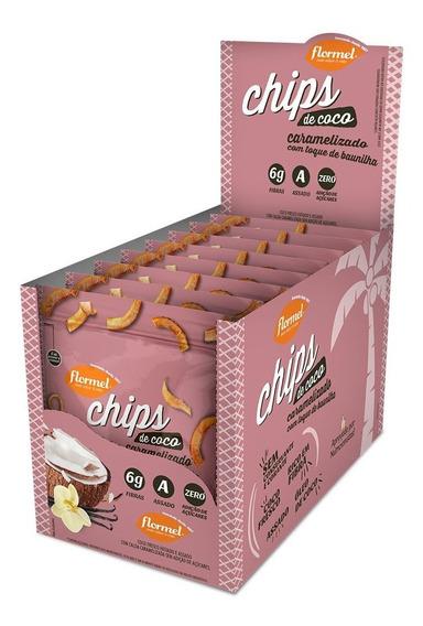 Chips De Coco Assado Caramelizado Flormel Zero Açúcar