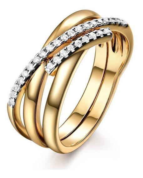 Anel Feminino Rosê Zircônias Alto Brilho Casamento Noivado