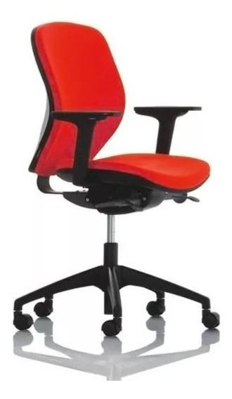 Cadeira Escritório Ergonômica Giroflex Joy - Vermelhas