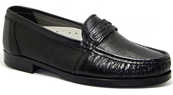 Sapato Mocassim Masculino Abc 108 Em Couro Legítimo - Preto