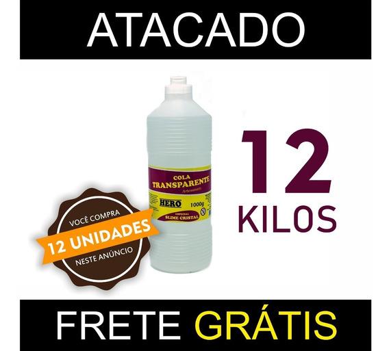 Kit Cola Clear Glue Slime Hero 12kg - Atacado Frete Grátis