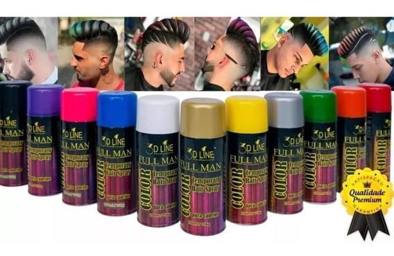 Color Hair Spray Tinta Temporária P Cabelo Full Man 3d Line