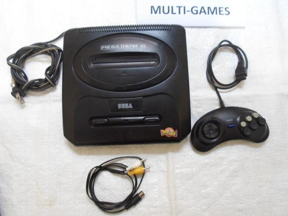 Mega Drive 3 + Jogo Show Do Milhão Na Memória