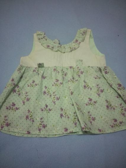 Vestido De Niña Estampado Talla 2 - Usado