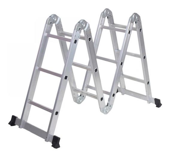 Escalera Aluminio Multifunción Kushiro Plegable 4x4
