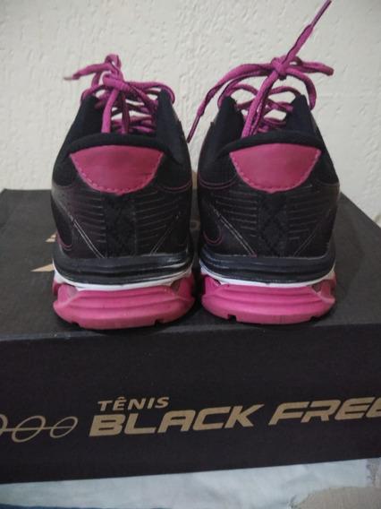 Tênis Black Free Feminino Tamanho 38 Semi-novo Na Caixa.
