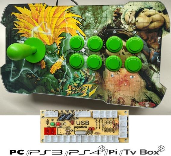 Controle Arcade Fliperama Pc/play3/play4/rasp Basic