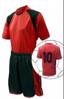 Kit Uniforme 20 Camisa Linha, 20 Calção E 2 Camisa Goleiro
