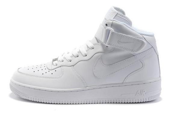 Tênis Nike Air Force 1 Mid 07 - Branco E Preto