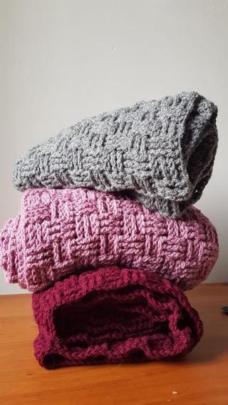 Bufanda Infinita Tejido A Mano Crochet Invierno