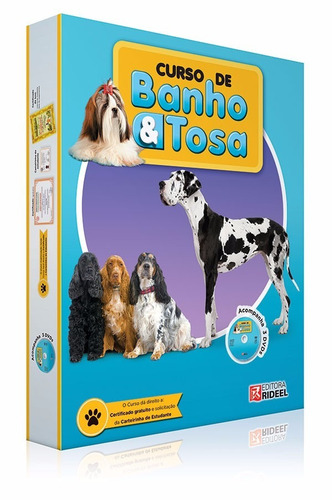 Imagem 1 de 6 de Curso De Banho E Tosa + 3 Dvds Com Aulas / Rideel