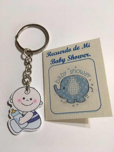 Recuerdos Para Baby Shower ,llavero De Madera X Docena