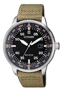 Reloj Citizen Hombre Nylon Eco Drive Fecha Bm739014e